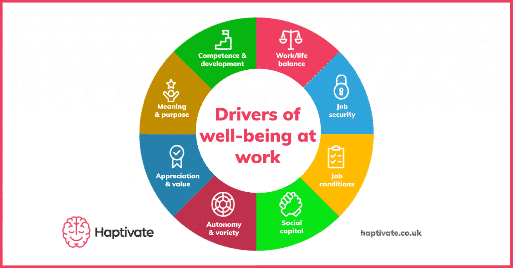 Infographic: The 8 drivers of wellbeing at work
