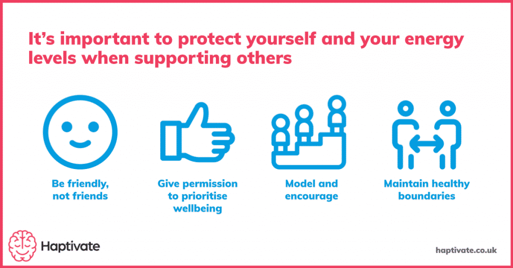 Graphic - It's important to protect yourself and your energy levels when helping others